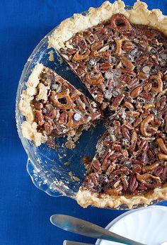Chocolate- Pretzel Pecan Pie #recipe