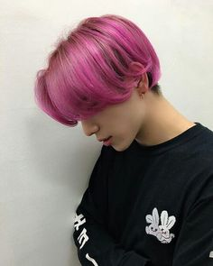 albums of ulzzang boy pink hair Pelo Ulzzang, Ulzzang Hair, Ulzzang Boy, Boys Colored Hair, Coloured Hair, Brown Hair Colors, Boys Dyed Hair, Dye My Hair, Pastel Hair