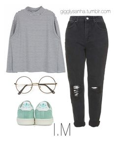 """""""Movie Date // I.M"""" by suga-infires ❤ liked on Polyvore featuring Topshop and adidas"""