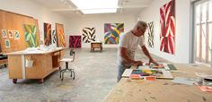 Charles Arnoldi in his studio, Los Angeles