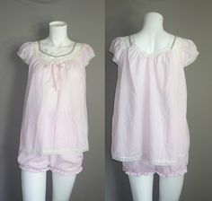 Love this Vintage Schrank Pink Bloomers Pajama Set...So cute!