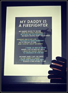 Love this. It's so true! Actually having a parent that's a firefighter is hard.