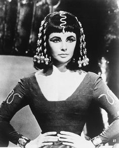 Elizabeth Taylor as Cleopatra.