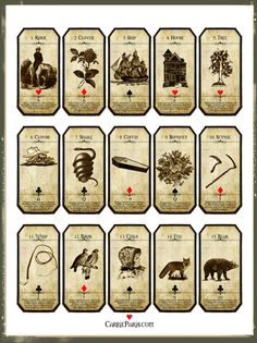 Lenormand Flashcards 1-15 Free to print