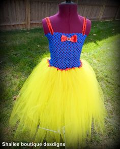Snow White Tutu Dress and headband Costume dress up / Princess snow white birthday party outfit