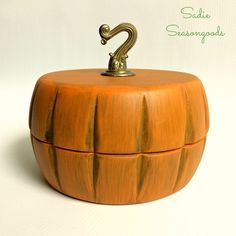 Autumn Pumpkin Trinket Box...from Salad Bowls!