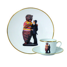 Jeff Koons Banality Series Limited Edition 5-Piece Place Setting - Bear and Policeman