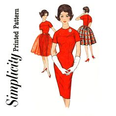 1960s Evening Dress Pattern Bust 34 Simplicity 4185 by CynicalGirl, $26.00