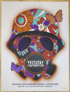 2016 Thievery Corporation - Red Rocks Silkscreen Concert Poster by Dan Stiles