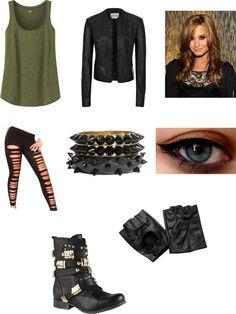 """nice """"rocker outfit"""" by gabriella-zabala ❤ liked on Polyvore..."""