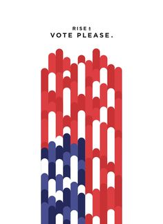 Milton Glaser's Get Out The Vote graphics for US election