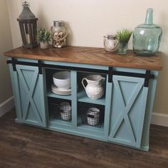 It's in the details, chevron top sliding door console by sawdust_and_paint on IG, free plans http://www.ana-white.com/2015/08/free_plans/grandy-sliding-door-console