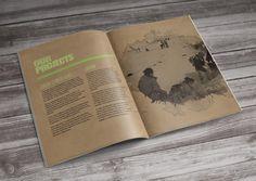 Sustainable Coastlines ( Annual Report ) by Wade Veldsman, via Behance