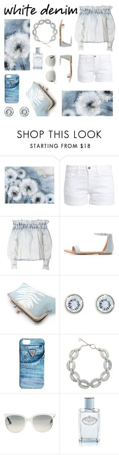 """""""Fresh"""" by kgez ❤ liked on Polyvore featuring Frame, MSGM, Charlotte Russe, GUESS, DIANA BROUSSARD, Ray-Ban and Prada"""