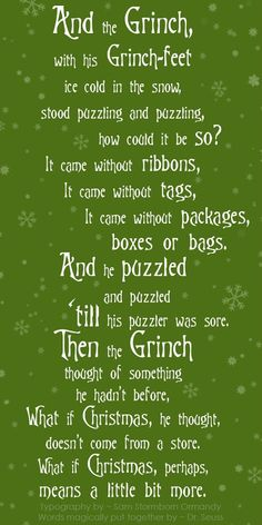 ~ From The Grinch who stole Christmas ~ ♥ ~ Grinch Green Version ★●★●❊●❉●❈●❄●★●★●★●❄●❈●❉●❊●★●★ #Christmas #Grinch #DrSeuss
