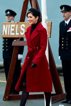 Crown Princess Mary of Denmark and her Diane Von Furstenberg Mikhaila Jacket, also worn by Blair Waldorf in white and Alex Udinov in Red (but it looks pink and I love it! Refer to tumblr for Alex's other gorgeous coats)