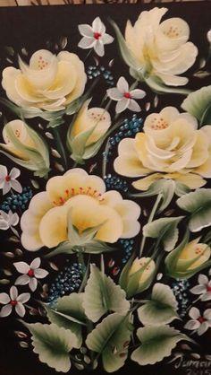 Die 387 Besten Bilder Von Acryl Blumen Rosen One Stroke