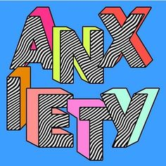 Anxiety Art Print by Tyler Spangler - X-Small Tyler Spangler, Photo Wall Collage, Psychedelic Art, Psychedelic Typography, Grafik Design, Aesthetic Art, Aesthetic Wallpapers, Word Art, Wall Prints
