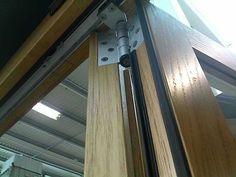 folding door rail hinge 5 Floor Ceiling, Folding Doors, Ceilings, Floors, Gate, Door Handles, Walls, Wall Decor, Woodworking
