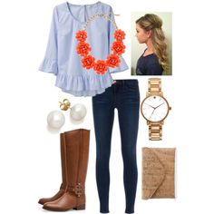 """Chambray"" by the-southern-prep on Polyvore"