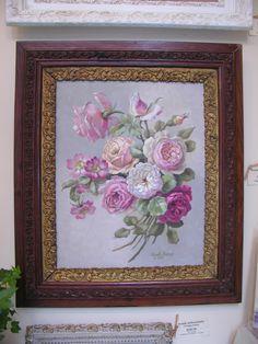 Original English Romance in antique frame