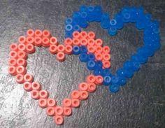 Valentine hama perler heart pair by Hamamia on deviantART