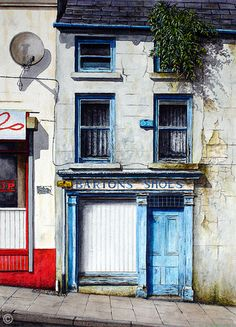Bartons of Ballycastle - Watercolour on Paper