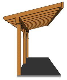Backyard Sheds, Backyard Patio Designs, Diy Patio, Lean To Carport, Lean To Roof, Carport Plans, Patio Roof, Porch Roof Design, Roof Truss Design