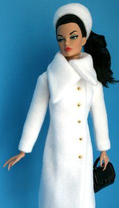 White JP Coat for 16 inch fashion dolls by SweetSixteenShop