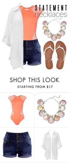 """""""Statement Necklace"""" by mareehamasood246 on Polyvore featuring Seafolly, Paolo Costagli, Beauty & The Beach, Aéropostale and statementnecklaces"""