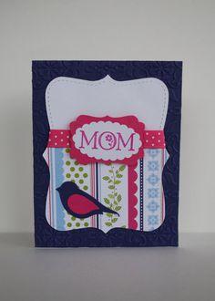 Mother's Day Card handmade purple pink by jillysstampinstudio, $3.75
