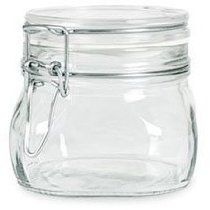Case of 6 - Bormioli Rocco Fido Latch Lid Oz) Square Canning Cosmetic Storage Hermetic Italian Jars From Italy: Heat and food safe hermetic jar from Italy Food Storage Containers, Jar Storage, Kitchen Storage, Kitchen Utensils, Chutneys, Canning Jars, Mason Jars, Butler, Pots