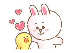 BROWN&FRIENDS warm and sweet watercolor | Line Sticker Friends Gif, Line Friends, Hug Gif, Cony Brown, Doraemon Wallpapers, Line Love, Cute Couple Cartoon, Gifs, Cute Love Gif