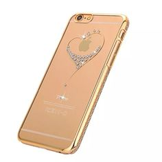 iPhone 6s iPhone 6 Case, with Rhinestone luxury New !!! Beautiful Dimond design iPhone 6s iPhone 6 rhinestone luxury clear case cover in gold color. Accessories Phone Cases