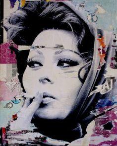 "Saatchi Art Artist Michiel Folkers; Collage, ""Sophia is smoking hot"" #art"