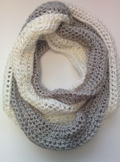 Free Crochet Pattern! The Duo-Chrome Infinity Scarf is 3 scarves in one, perfect for the holidays! Just one of the 15 free patterns available!