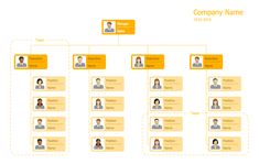 Hierarchical Org Chart Template 10