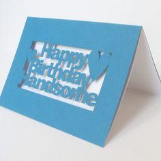Happy birthday handsome cutout card