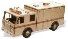 Heavy Duty Ambulance Woodworking Plan  Precision drafted full sized plans by Toys and Joys Complete, At-A-Glance materials list Easy to follow instructions Beautifully precise patterns enable you to create and display quality replicas of your favorite cars, trucks, equipment etc.       Recommended Wooden Parts List from our selection of wooden parts- Scroll Down to add to your cart.     6 of TR-275 Wood Wheels 4 of AP-244 Wood Axle Pegs  3 of AC-018 Wood Axle Caps   6 of...
