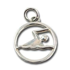 Modern Swimmer Pendant: An Inspired Endurance Exclusive: Our new sterling silver modern swimmer is large enough for a pendant and small enough for use as a charm. Clean, unique, and a sure compliment catcher. The peek through design adds a ton of interest to this piece! #InspiredEndurance #runnerbling #triathlon #runnerjewelry