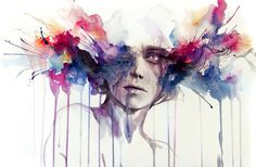 Colorful Portrait Watercolor Paintings by Silvia Pelissero