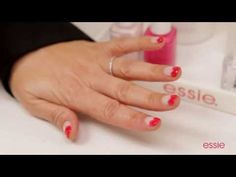 essie nail art how to: french valentine - YouTube