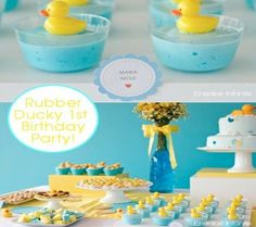 Love this rubber ducky party theme!