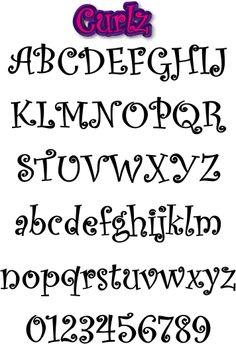abecedario letras bonitas para escribir a mano - Buscar con Google