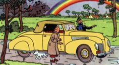 tintin 1939 Lincoln car in Tintin and The Calculus Affair • Tintin, Herge j'aime