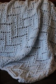 Balls to the Walls Knits: Pattern Gallery - Kids Baby Blanket size, like for Throw size