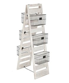 Another great find on #zulily! Double-Sided Wooden Storage Ladder #zulilyfinds