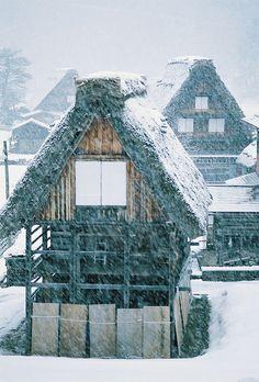 Japanese farm house. Minka. Shirakawa-go 白川郷