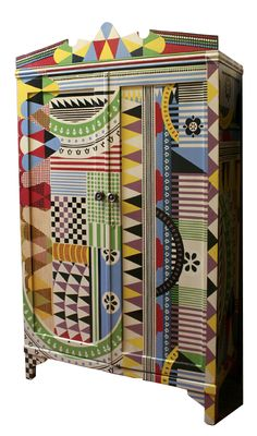 I want this! Painted vintage wardrobe by Argentinian Artist Lucas Risé. Just beautiful.
