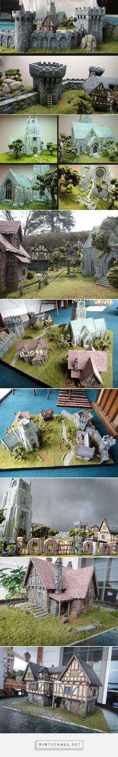 Gloomholde City Section 1 (Pic Heavy) - created on Terrain 40k, Warhammer Terrain, Game Terrain, Wargaming Terrain, Chateau Fort Jouet, Tabletop, Medieval, Hirst Arts, Garden Nook